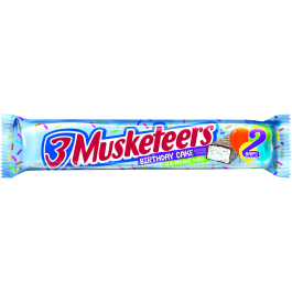 3 Musketeers, Birthday Cake (2 Bars) (60g)