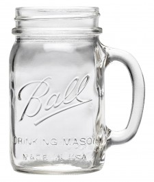 Ball Mason Drinking Jar, Regular Mouth with Lid (16OZ)