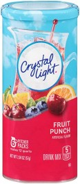 Crystal Light Drink Mix, Fruit Punch (6-pitcher packs) (58g)