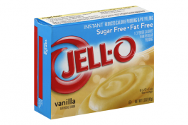 Jell-O Vanilla Sugar Free & Fat Free Instant Pudding & Pie (28g)