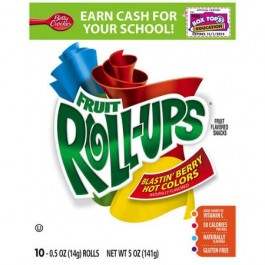 Fruit Roll-Ups Blastin' Berry Hot Colors Fruit Flavored Roll Ups (141g) (BEST BY 08-11-2019)