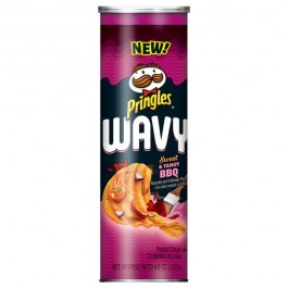 Pringles Wavy, Sweet & Tangy BBQ (137g)