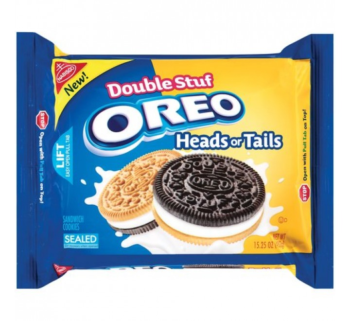 Oreo Double Stuf Heads or Tails (432g)