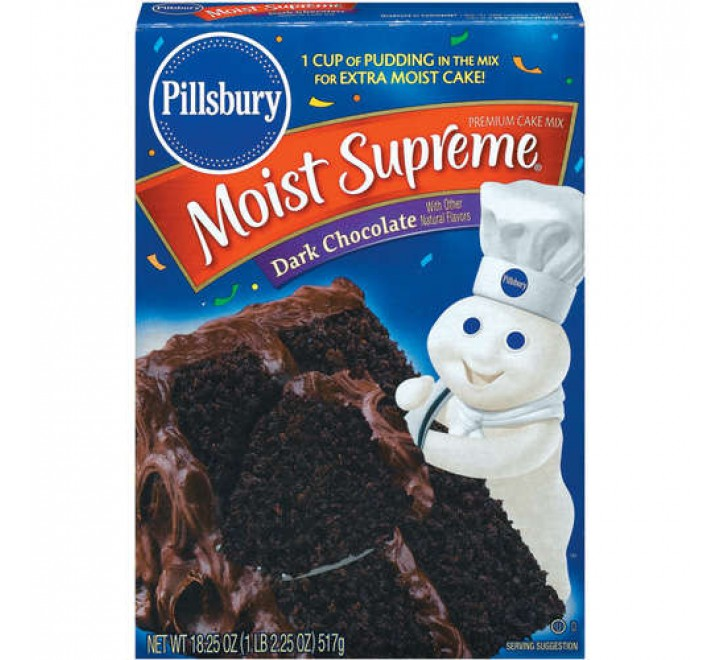 Pillsbury Moist Supreme Dark Chocolate Cake Mix (432g)