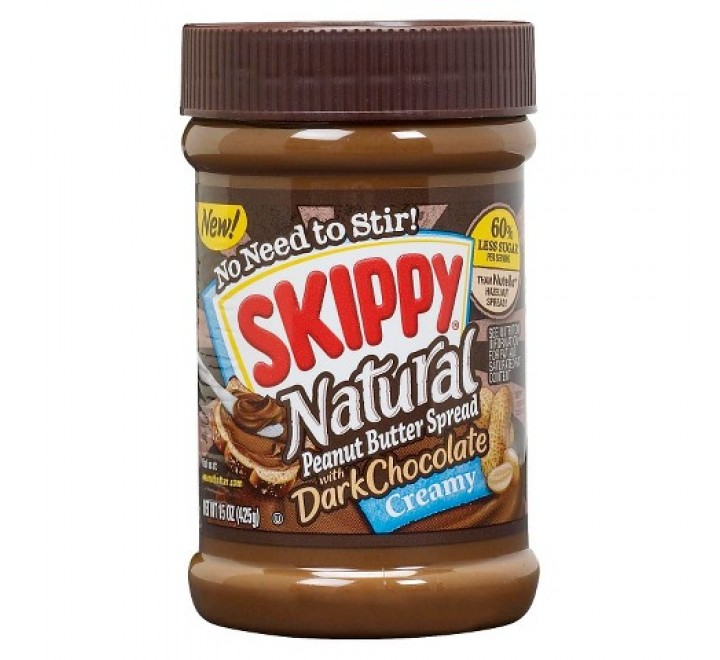 Skippy Natural Creamy Peanut Butter Spread with Dark Chocolate (425g)