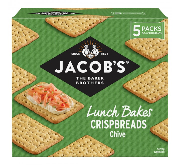 Jacob's Crispbreads Chive Crackers (190g) (BEST-BY DATE: 02-01-21)