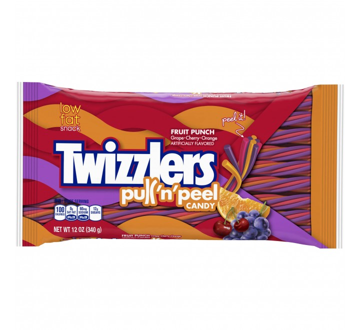 Twizzlers Pull 'n' Peel, Fruit Punch (340g)