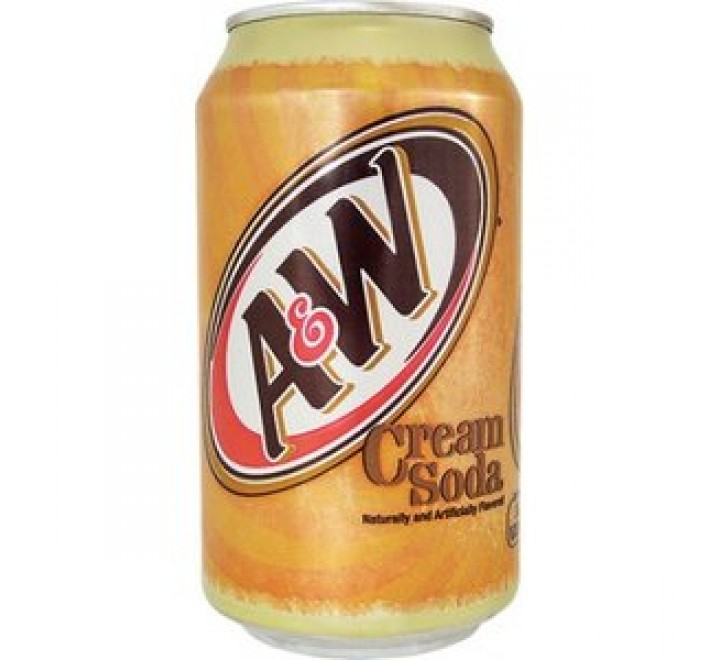 A&W Cream Soda, With Caffeine (355ml)
