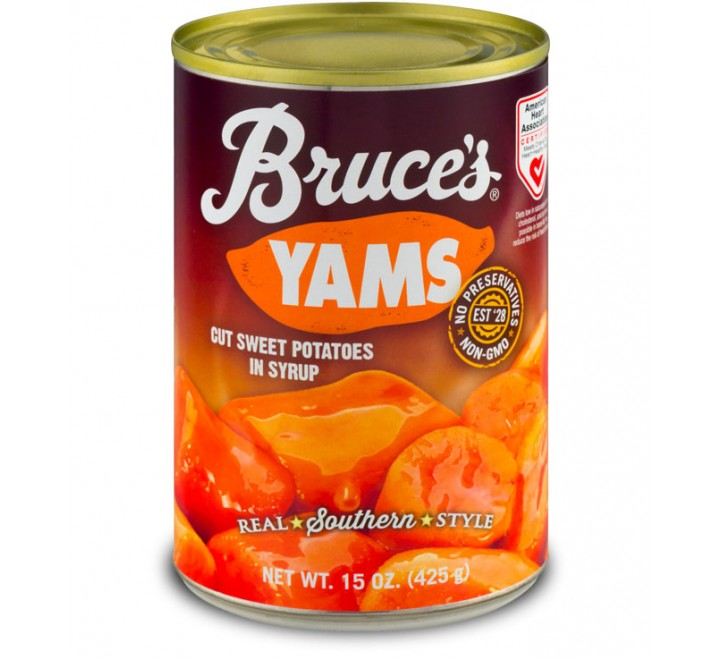 Bruce's Yams, Cut Sweet Potatoes In Syrup (452g)