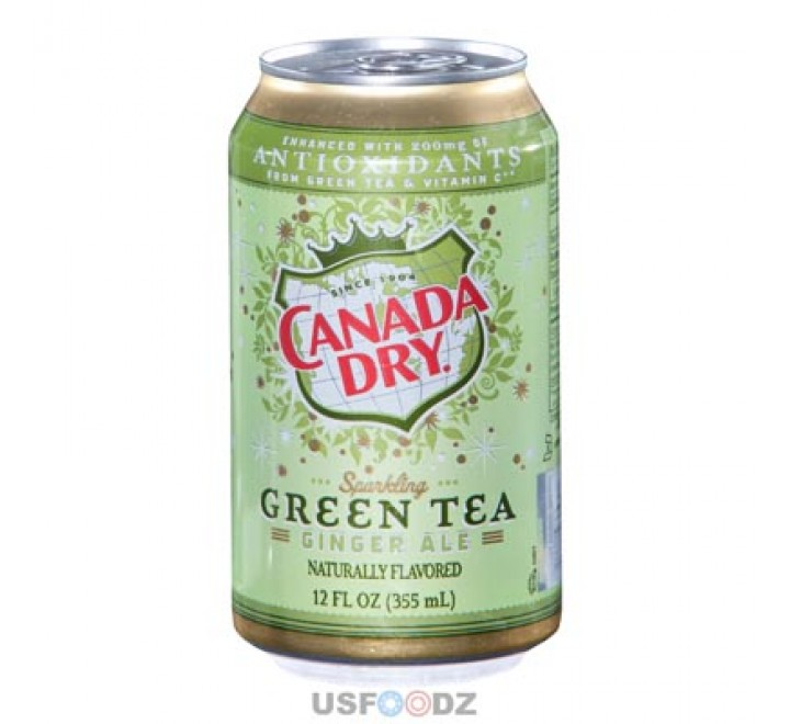 Canada Dry Green Tea Ginger Ale (355 ml)