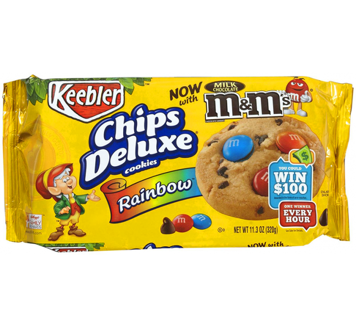 Keebler Chips Deluxe Rainbow Cookies with M&M's (320g)