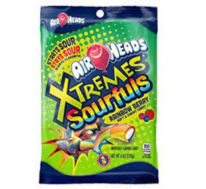 Air Heads Xtremes Sourfuls, Rainbow Berry (170g)