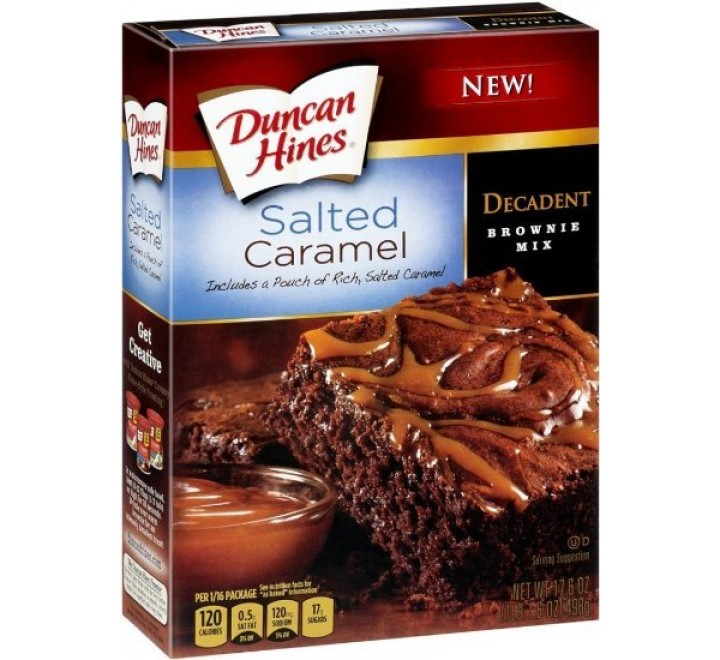 Duncan Hines Decadent Salted Caramel Brownie Mix (498g)