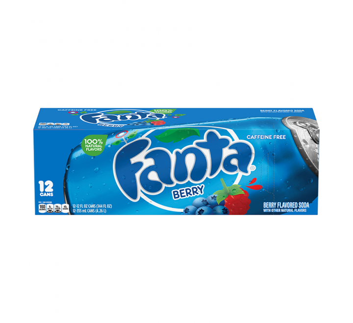 Fanta Berry ,12 Cans Fridgepack (355ml)