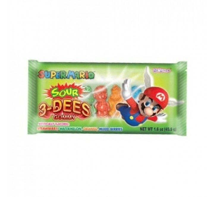 Super Mario Bros 3Dees Sour Gummy (45g)