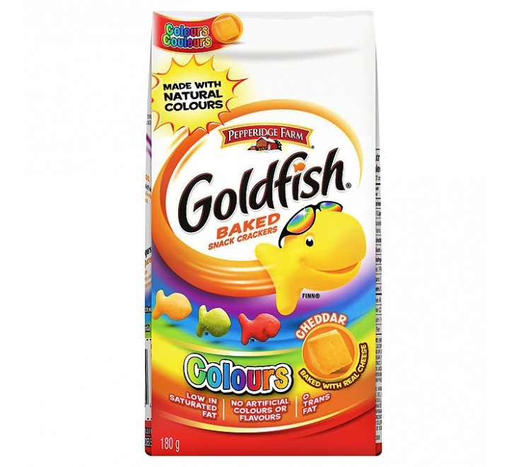 GoldFish Baked Snack Crackers Cheddar Colors (187g)