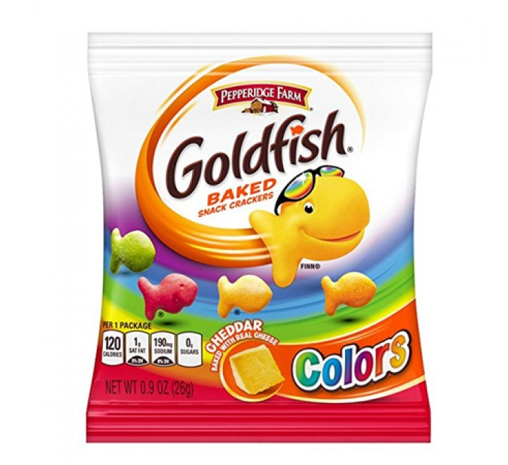Goldfish Colors Cheddar Crackers (26g)
