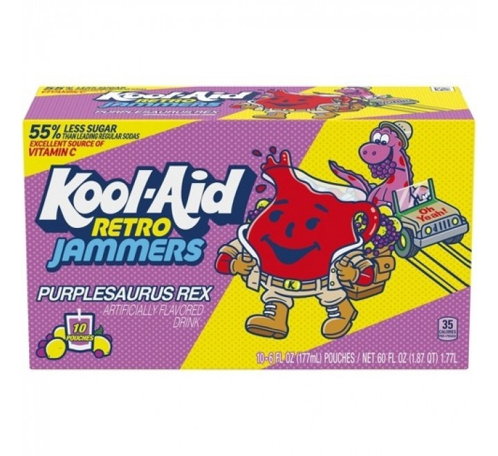 Kool-Aid Jammers, Purplesaurus Rex Single Pouch (177ml)