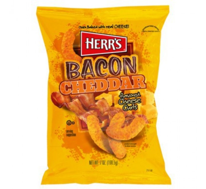 Herr's Bacon Cheddar Cheese Curls (199g)