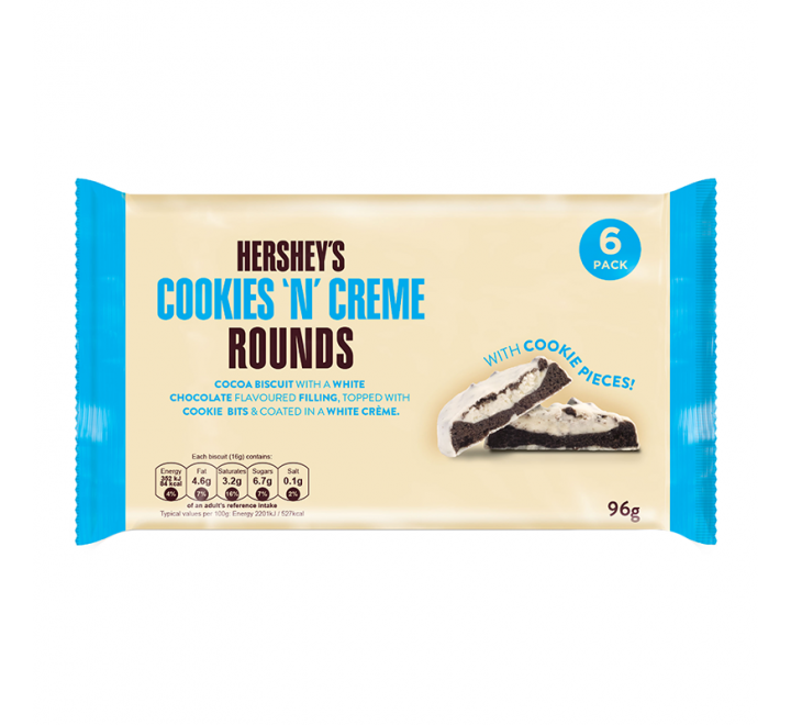 Hershey's Rounds, Cookies 'N' Creme (6-Pack) (96g)