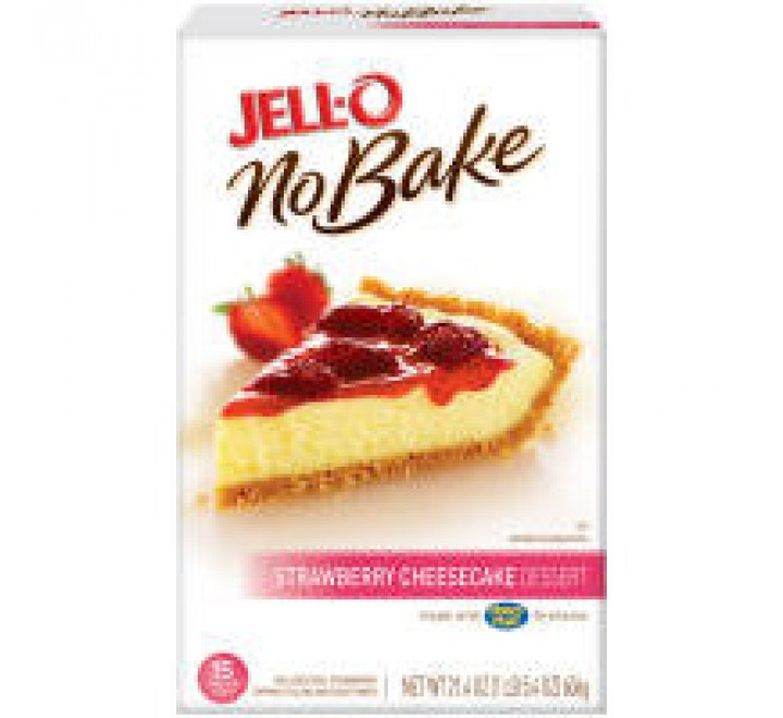 Jell-O No-Bake Strawberry Cheesecake Dessert