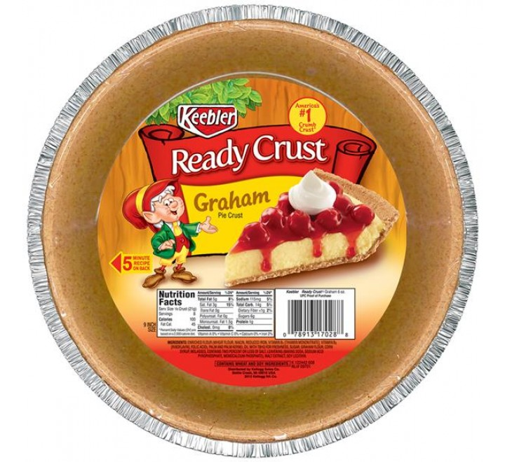 Keebler Ready Crust, Graham Pie (9-Inch)
