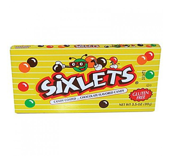 Sixlets Candy Candy Coated Chocolate Flavored Candies (99g)
