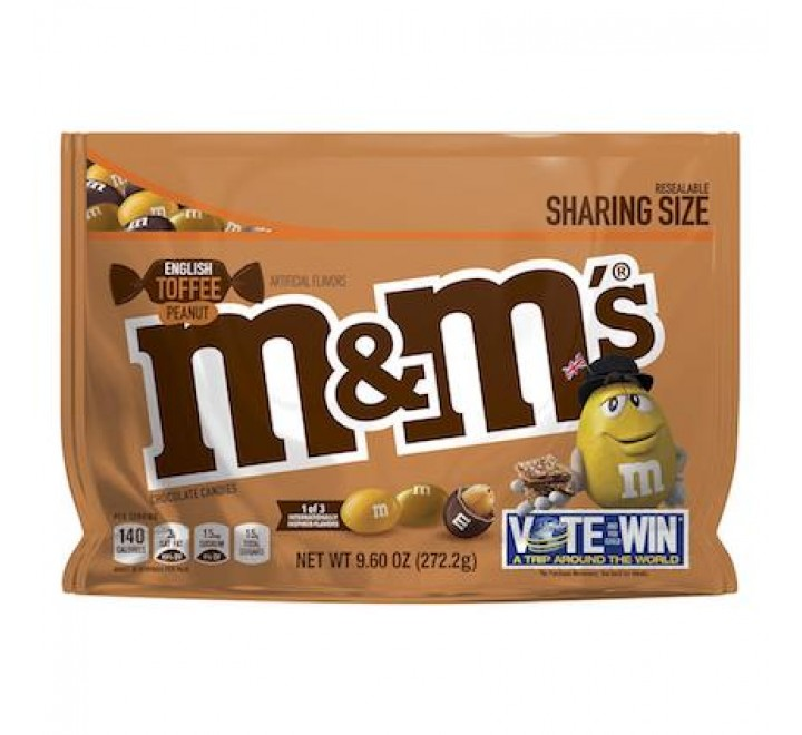 M&M's English Toffee Peanut, Sharing Size (272g)