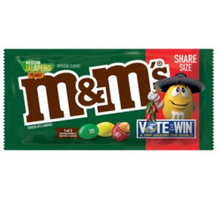 M&M's Mexican Jalapeño Peanut, Share Size (92g)