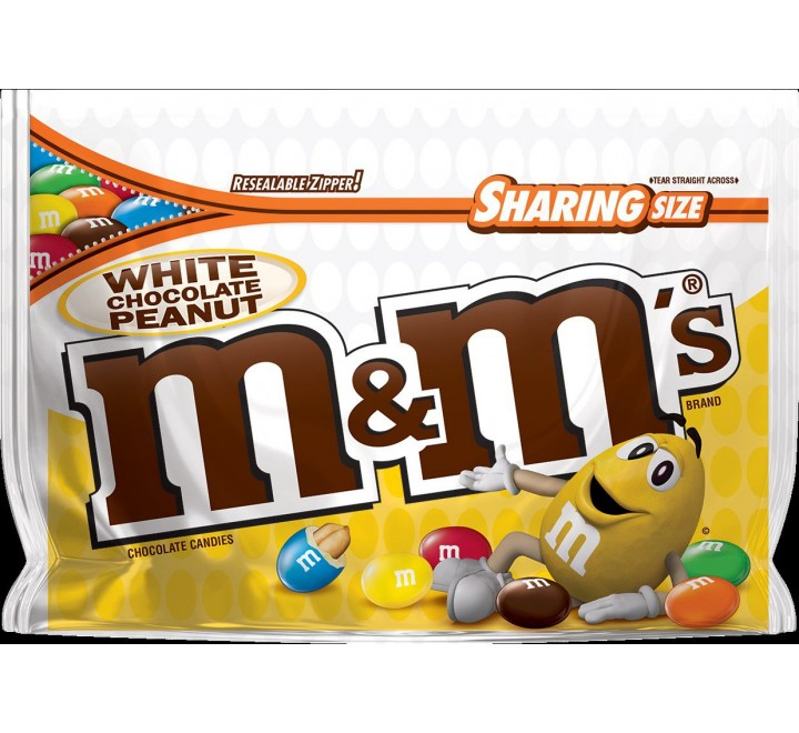 M&M's White Chocolate Peanut, Sharing Size (272g)