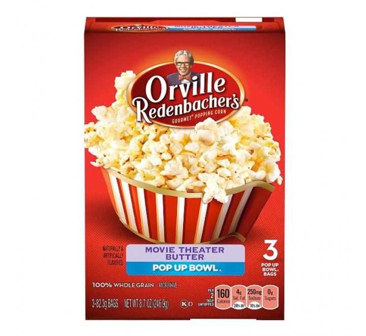 Orville Redenbacher's Movie Theater Butter, Classic Bag (3 bags) (299g)