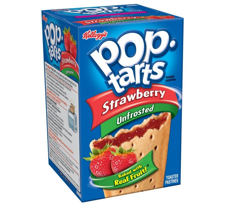 Pop-Tarts Strawberry, Unfrosted