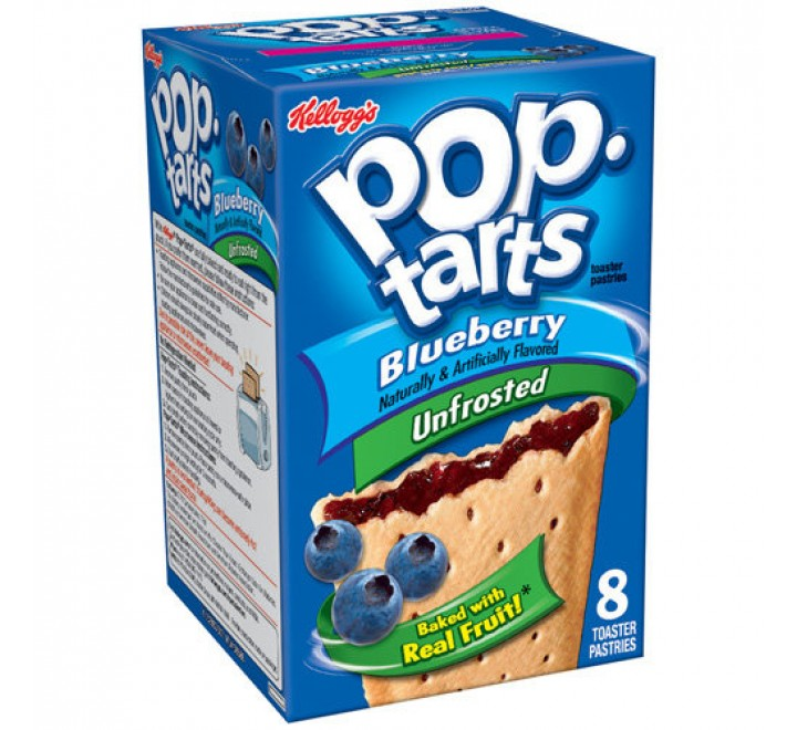 Kellogg's PopTarts Blueberry (Unfrosted)