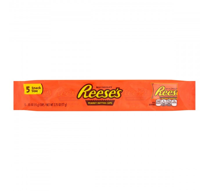 Reese's 5 Peanut Butter Cups, Snack Size (77g) USfoodz