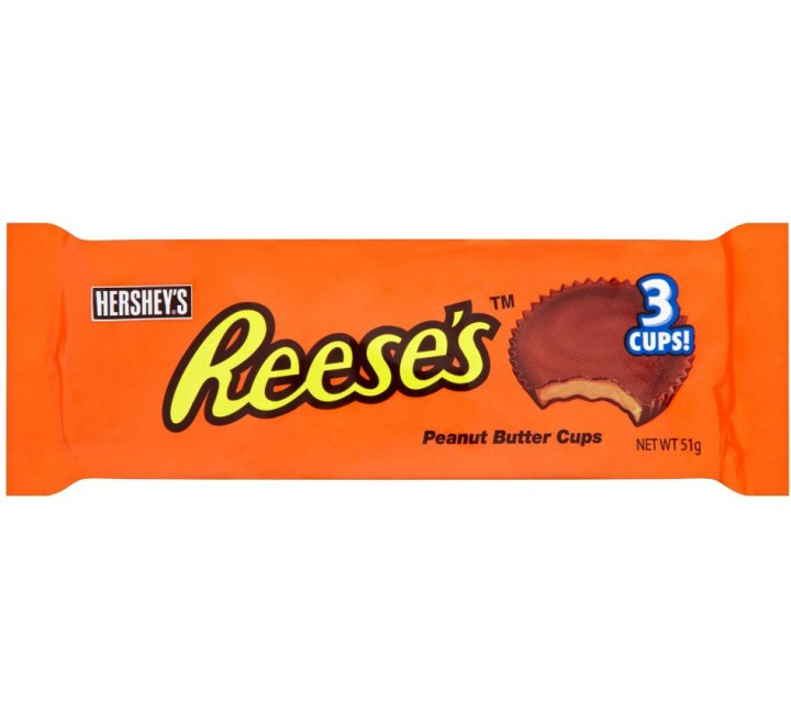 Reese's 3 Peanut Butter Cups (milk) usfoodz