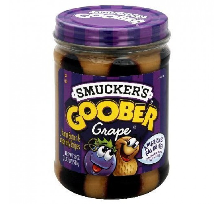 Smucker's Goober Peanut Butter & Jelly Grape Stripes (510g)
