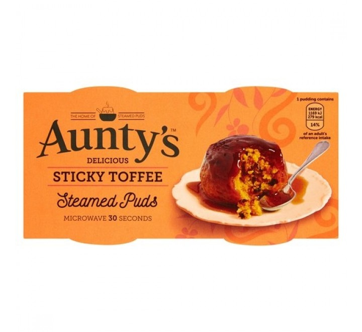 Aunty's Steamed Sticky Toffee Puddings (2x95g)