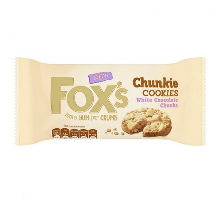 Fox's White Chocolate Chunky Cookies (180g) (BEST-BY DATE: 23-01-21)