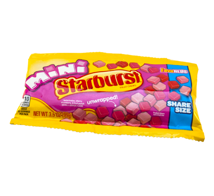 Starburst Mini FaveReds Unwrapped, Share Size (99g)