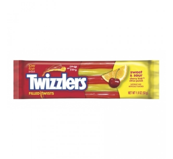 Twizzlers Filled Twists, Sweet & Sour (53g)