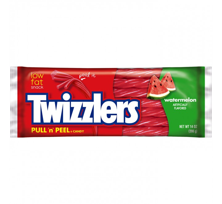 Twizzlers Pull 'n' Peel Candy Watermelon (396g)