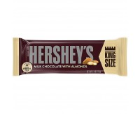 Hershey's Milk Chocolate with Almonds, King Size (73g) (BEST-BY DATE: 08-2021)