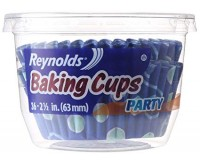 Reynolds Party Baking Cups, Blue (63mm, 36-Pack)