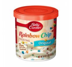 Betty Crocker Frosting, Rainbow Chip (453g)
