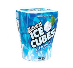 Ice Breakers Ice Cubes Sugar Free Peppermint Gum(40 pieces)