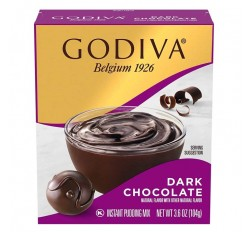 Godiva Dark Chocolate, Instant Pudding Mix (104g)