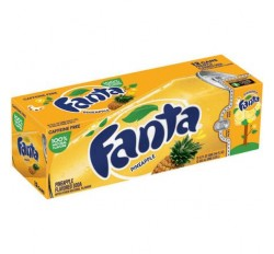 Fanta Pineapple Soda 12 Cans FridgePack