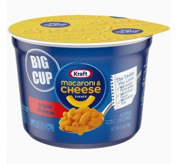 Kraft Macaroni & Cheese Dinner Big Cup, Triple Cheese (116g)