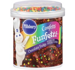 Pillsbury Chocolate Fudge Confetti Funfetti Frosting