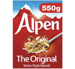 Alpen The Original Swiss Style Muesli (550g) (BEST-BY DATE: 16-03-2021)